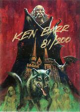 """Artists' Choice Ken Barr Autograph """"Dracula/Bram Stoker"""" 81/200"""