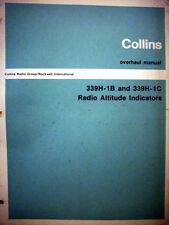 Collins  339H-1B & 339H-1C  Altimeter Indicator Service manual