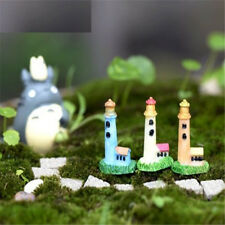 Fd2367 Lighthouse Miniature Dollhouse Ornament Flower Pot Aquarium Craft Diy A