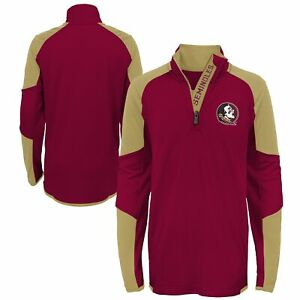 Outerstuff NCAA Youth Boys Florida State Seminoles 1/4 Zip Pullover Top