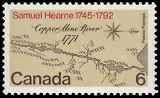"CANADA 540i - Samuel Hearne ""Ghost Print"" Red Doubled Flaw (pa56040)"