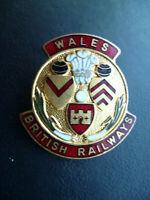 SCARCE BRITISH RAILWAYS WALES BOWLING CLUB MEMBERS BADGE.