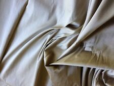 8YDS KRAVET 100% SILK DUPIONI BEIGE TAN HIGH QUALITY #1047