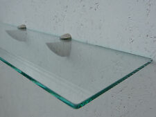 Glasregal Klarglas, 40cm x 20cm x 6mm, Glasregale Wandregal Badregal Ablage