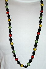EXCLUSIVE COLOUR BEADED NECKLACE, FULL BLING MACRAME CHAIN, ICED OUT DISCO BALLS