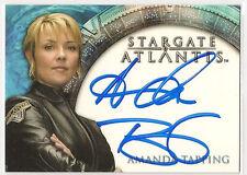Stargate Heroes Atlantis Auto Amanda Tapping Sam Carter