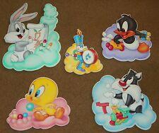 5 Warner Bros Baby Looney Tunes Wall Decor Silvester DaffyDuck Tweety Bugs Bunny