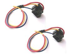 Replacement H4 Bulb Holders x 2 With leads For H4 Headlamp 3 Pin Type (BCH4x2)