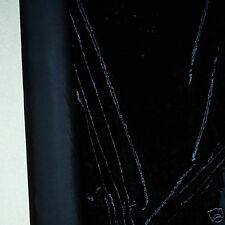 "CRUSHED VELVET STRETCH FABRIC BLACK 58"" BY THE YARD"