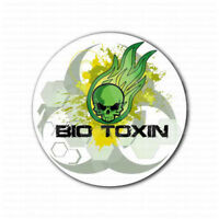 Biohazard Bio Toxin Skull Inside Sign Sticker