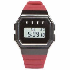 Neff Men's Flava Watch Maroon Black