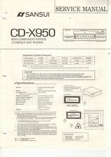 SANSUI - CD-X950 - Service Manual English for CD-Player - H-5264