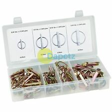 50pc Lynch Pin ( Linchpin ) Locking Pin Clip Assortment Set For Trailers