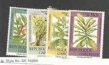 Gabon, Postage Stamp, #630-633 Mint LH, 1988 Plants