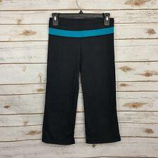 Lululemon Black Blue Groove Crop Active Athletic Pants Size 4