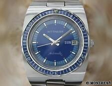 Wittnauer Diver Mens Vintage Automatic 1970s Stainless S Watch JU182