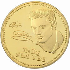 Elvis Presley Medaille mit 999 Gold vergoldet in Kapsel