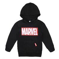 Marvel - Logo - Official - Boys - Hoodie - Black