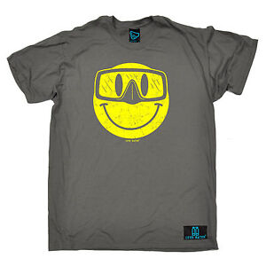 Smile Scuba Diving Face T-SHIRT tee funny birthday gift 123t present for him