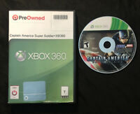 Captain America Super Soldier — Cleaned/Tested! Free Shipping! (Xbox 360, 2011)