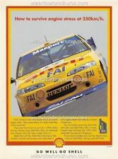 1995 JOHNSON BOWE EF FALCON SANDOWN WINNER A5 DISPLAY CARD BIANTE 1:18 DIORAMA