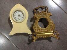 Rare Antique Ornate Brass Standing Clock Base C.1900+Celluloid D Fish Shape Usa