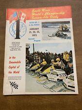 1972 Eagle River World championship snowmobile Derby Program