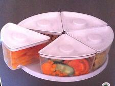 5 sección giratorio de almacenamiento de alimentos Mini Cubo Para Nevera armarios Rojo Base Tapas millones de EUR