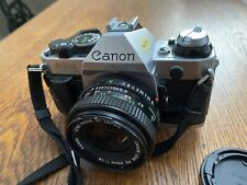 Canon AE-1 Program 35mm SLR Film Camera with 50 mm lens Kit