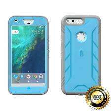 POETIC Revolution TPU Case w/ Built-In Screen Protector for Google Pixel XL Blue