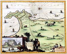 Reproduction carte ancienne - Cap de Bonne Espérance en 1682 (Cape of Good Hope)