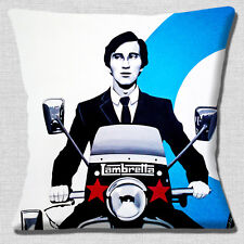 Lambretta Scooter Cushion Cover 16x16 inch 40cm Vintage Retro 60's Quadrophenia