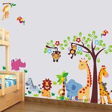 Design C - Giraffe/Monkey/Lion/Elephant Baby/Kid Nursery Wall Sticker Decal