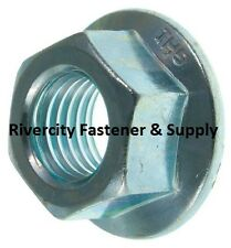 (10) M10-1.25 or 10mm x 1.25 Serrated Flange Spin Wiz Lock Nuts Metric 14mm Hex