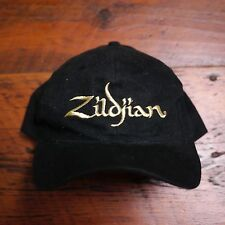 Zildjian Gold Embroidered Black Cotton Baseball Drummer Hat Adjustable Snapback