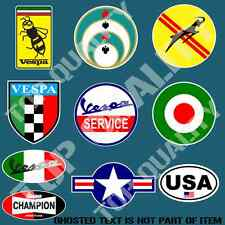 SCOOTER MEGA PACK DECAL STICKER SET X10 VESPA MOPED EURO STYLE EDM STICKERS GIFT