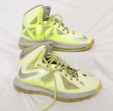 best service 8bc15 ab023 Nike Lebron X 10 Volt Wolf Grey Neon Yellow 541100 700 Men s Sz ...