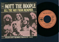 """7"""" MOTT THE HOOPLE ALL THE WAY FROM MEMPHIS / BALLAD..... MADE IN GERMANY 1973"""