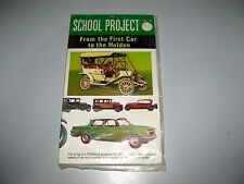 """Vintage School Projects No19  From The First Car To Holden Never Opened """"L@@K"""""""