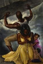 Behind Every Great Man Kevin A. Williams WAK African American Art Print 18x12