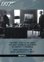 James Bond Autographs & Relics Rittenhouse Rewards Chase Card QS22