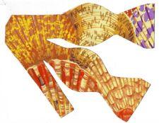 Seashells Bow tie / Large Purple, Gold, Orange Scallop Shells / Self-tie Bow tie