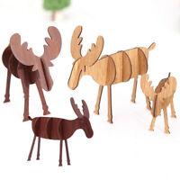 New Wood Christmas Elk Deer Ornaments Xmas Tree Hanging Decoration Pendant Gift