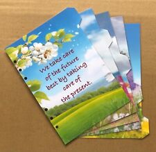 A5 Filofax Organiser Dividers in a Gorgeous Calm Quote Designs - Laminated
