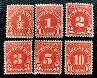 1931-32 US Postage Due Stamps #J79-J84