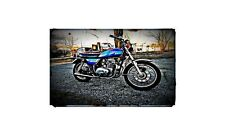 1976 kz400 Bike Motorcycle A4 Retro Metal Sign Aluminium