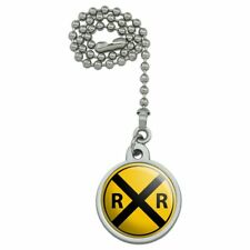Railroad Crossing Traffic Sign Train Ceiling Fan and Light Pull Chain