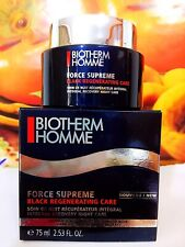 BIOTHERM Homme FORCE SUPREME BLACK REGENERATING CARE INTERGRAL RECOVERY 75ml NIB