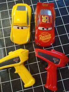 Disney Cars Crazy Crash & Smash Lightning McQueen Cruz RC Cars Thinkway Toys