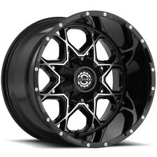 4 Scorpion Sc 10 20x9 6x1356x55 12mm Blackmachined Wheels Rims 20 Inch Fits More Than One Vehicle